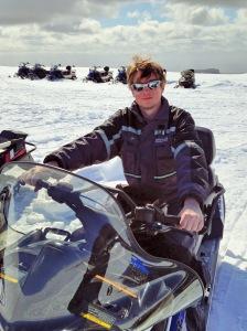 Snowmobiling, Mýrdalsjökull, Iceland