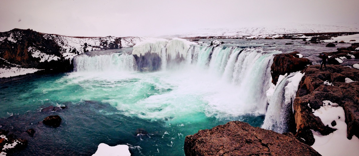 Goðafoss, waterfall of the gods, Iceland